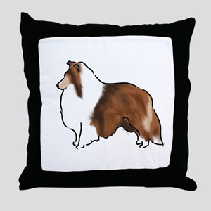 sable sheltie Throw Pillow