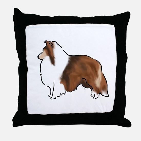 sable sheltie Throw Pillow