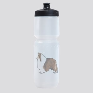 sable sheltie Sports Bottle