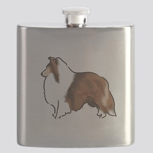 sable sheltie Flask