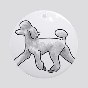 poodle white Ornament (Round)