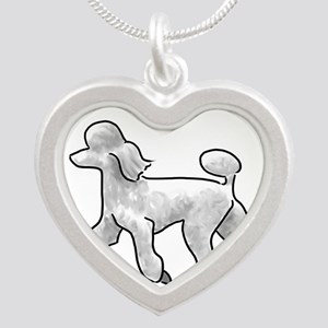 poodle white Necklaces