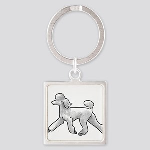poodle white Keychains