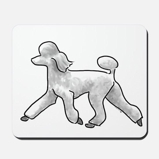 poodle white Mousepad