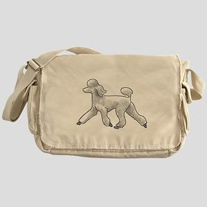poodle white Messenger Bag