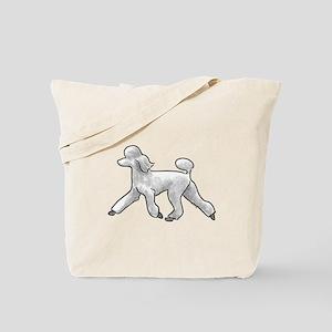 poodle white Tote Bag
