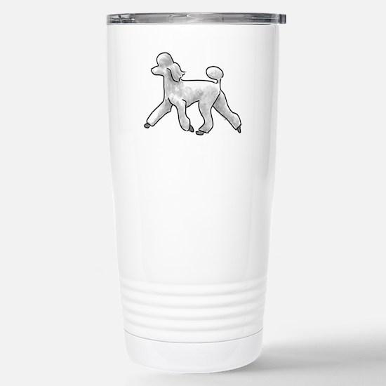 poodle white Travel Mug