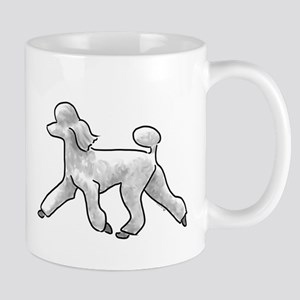 poodle white Mugs