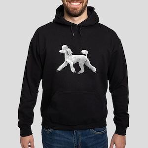 poodle white Hoodie