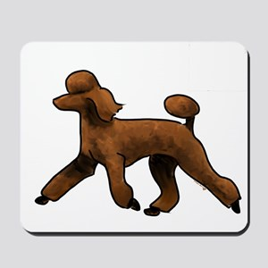 red poodle Mousepad