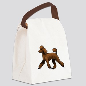 red poodle Canvas Lunch Bag