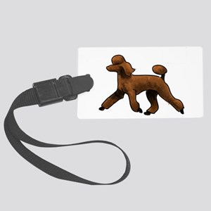 red poodle Luggage Tag