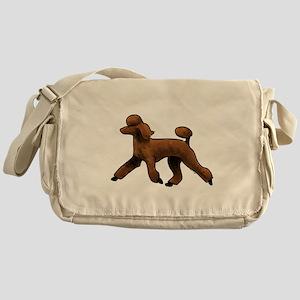red poodle Messenger Bag