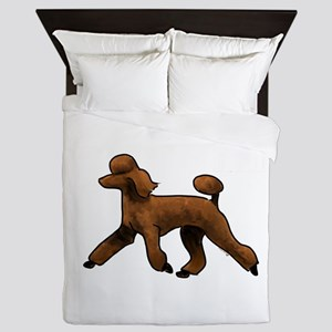 red poodle Queen Duvet