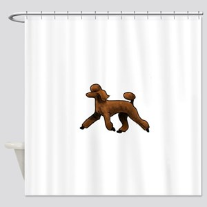 red poodle Shower Curtain