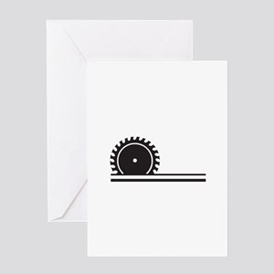 SAW BLADE Greeting Cards