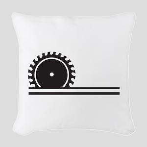 SAW BLADE Woven Throw Pillow