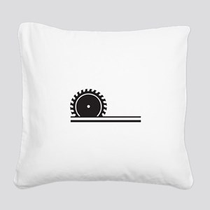 SAW BLADE Square Canvas Pillow