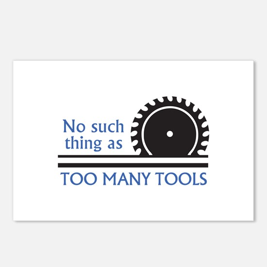 TOO MANY TOOLS Postcards (Package of 8)