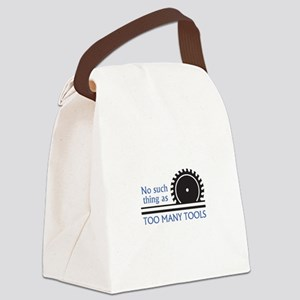 TOO MANY TOOLS Canvas Lunch Bag