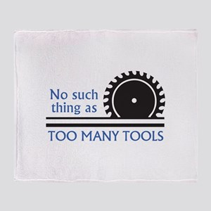 TOO MANY TOOLS Throw Blanket