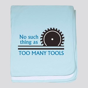 TOO MANY TOOLS baby blanket