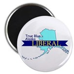 "True Blue Alaska LIBERAL 2.25"" Magnet (10 pack)"