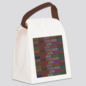 Love Hugs and Kisses XOXO Canvas Lunch Bag
