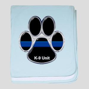 K-9 Unit Thin Blue Line baby blanket