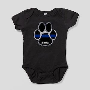 K-9 Unit Thin Blue Line Baby Bodysuit