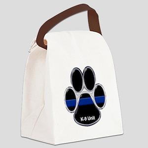 K-9 Unit Thin Blue Line Canvas Lunch Bag