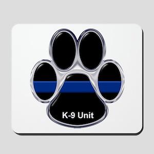 K-9 Unit Thin Blue Line Mousepad