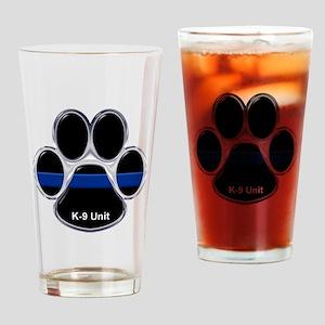 K-9 Unit Thin Blue Line Drinking Glass