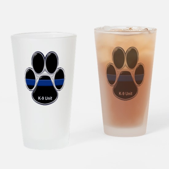 K-9 Unit Thin Blue Line Drinking Glass