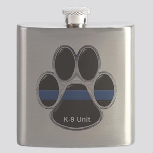 K-9 Unit Thin Blue Line Flask