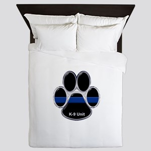 K-9 Unit Thin Blue Line Queen Duvet