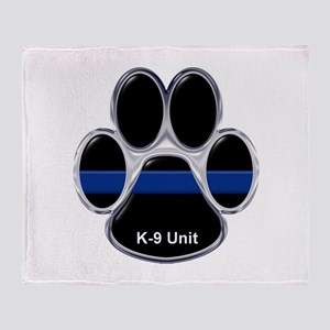 K-9 Unit Thin Blue Line Throw Blanket