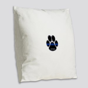 K-9 Unit Thin Blue Line Burlap Throw Pillow