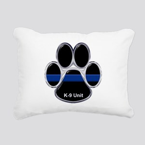 K-9 Unit Thin Blue Line Rectangular Canvas Pillow