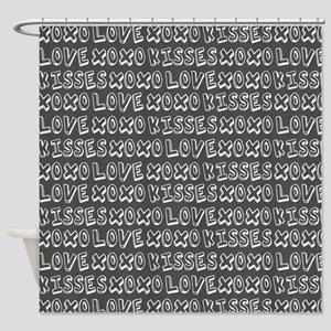 Love Hugs and Kisses XOXO Shower Curtain