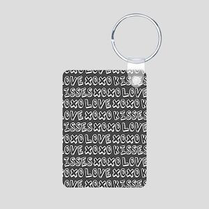 Love Hugs and Kisses XOXO Aluminum Photo Keychain