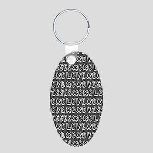 Love Hugs and Kisses XOXO Aluminum Oval Keychain