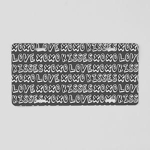 Love Hugs and Kisses XOXO Aluminum License Plate