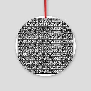 Love Hugs and Kisses XOXO Ornament (Round)