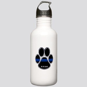 K-9 Unit Thin Blue Lin Stainless Water Bottle 1.0L