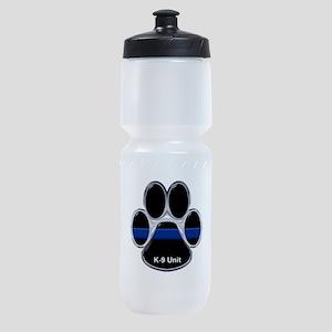 K-9 Unit Thin Blue Line Sports Bottle