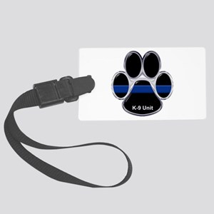 K-9 Unit Thin Blue Line Large Luggage Tag