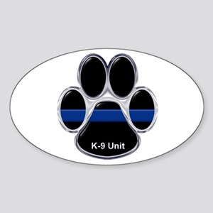 K-9 Unit Thin Blue Line Sticker