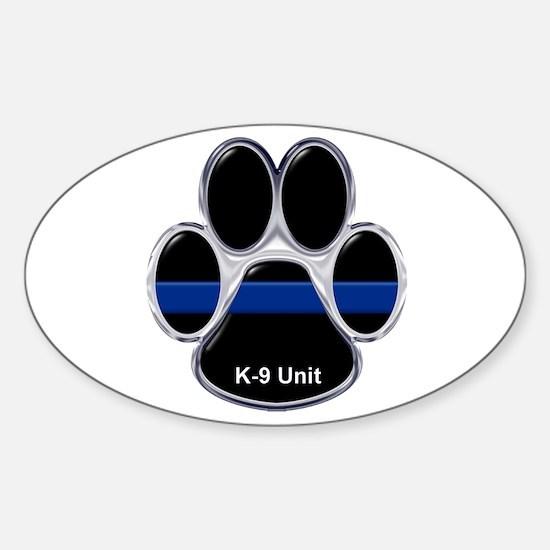 K-9 Unit Thin Blue Line Decal