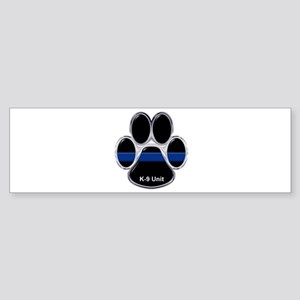 K-9 Unit Thin Blue Line Bumper Sticker